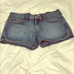 Old navy blue denim shorts sz 6
